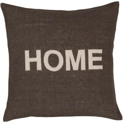 Abode Brown Geometric 22 in. x 22 in. Throw Pillow