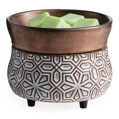 Bronze Geometric 2-in-1 Fragrance Warmer