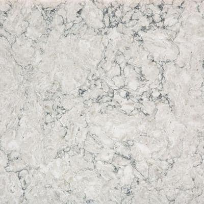 2 in. x 4 in. Quartz Countertop Sample in Pietra