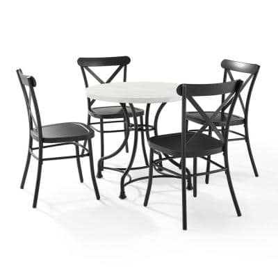 Madeleine 5-Piece Black Dining Set