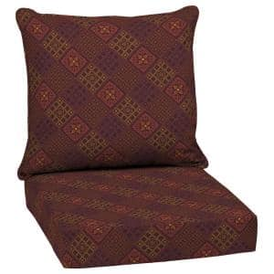 24 in. x 22.5 in. Azulejo Southwest Outdoor 2-Piece Deep Seating Lounge Chair Cushion