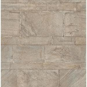 Clifton Platinum Sandstone Paper Strippable Roll Wallpaper (Covers 56.4 sq. ft.)