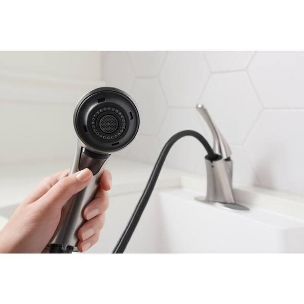https www homedepot com p kohler mistos single handle pull out laundry utility faucet in vibrant stainless k r77062 vs 206657636