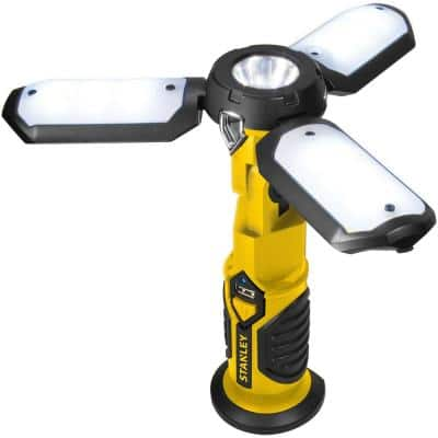 Rechargeable 600 Lumens Ultra-Bright LED Satellite Portable Work Light with USB Charger