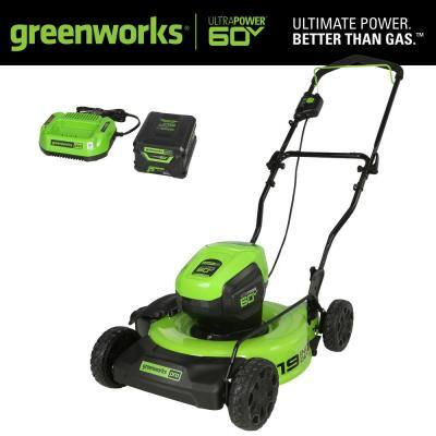 PRO 19 in. 60-Volt Battery Cordless 2-in-1 Lawn Mower with 5.0 Ah Battery with Charger