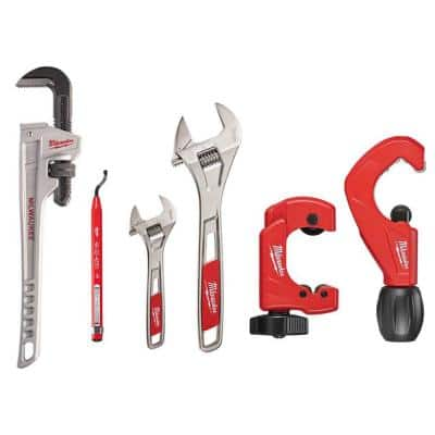 18 in. Plumbers Hand Tool Set (6-Piece)