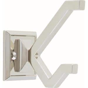 2-1/5 in. Polished Nickel Modern Deco Wall Hook