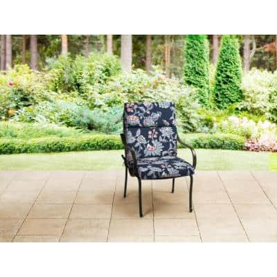 21 x 20 Outdoor Dining Chair Cushion in Standard Blue Floral