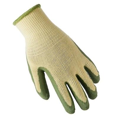 Small Green Latex Dip General Purpose Gloves