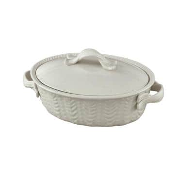 Levingston 8.25 in. x 11.5 in. Covered Oval Baking Dish with Lid