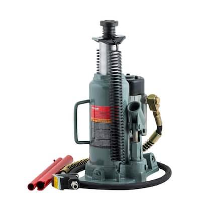 12-Ton Capacity Heavy-Duty Air Actuated Hydraulic Bottle Jack
