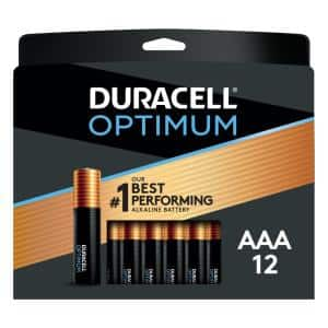 Optimum AA and AAA Alkaline Battery Assortment Pack (12-Count, 4-Pack)