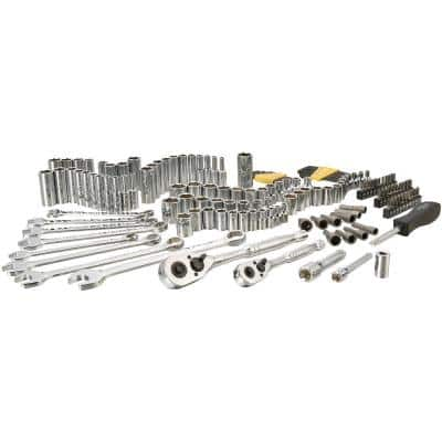 1/4 in. & 3/8 in. Drive  SAE  Mechanics Tool Set (145-Piece)