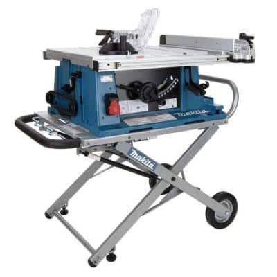 15 Amp 10 in. Corded Contractor Table Saw with Portable Stand, 25 in. Rip Capacity and 32T Carbide Blade