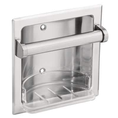 Recessed Soap Holder and Utility Bar in Chrome