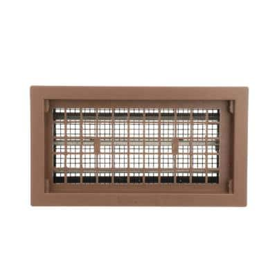 16 in. x 8 in. Automatic Foundation Vent in Brown (Carton of 10)