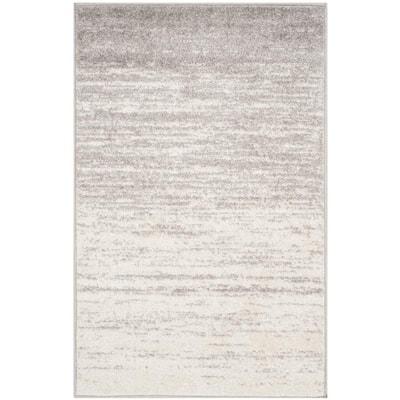 Adirondack Ivory/Silver 3 ft. x 4 ft. Area Rug