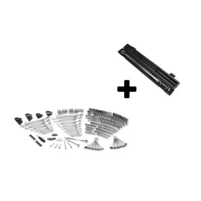 Mechanics Tool Set (349-Piece) with Bonus 1/2 in. Drive Torque Wrench