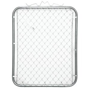 42 in. x 48 in. Galvanized Steel Bent Frame Walk-Through Chain Link Fence Gate