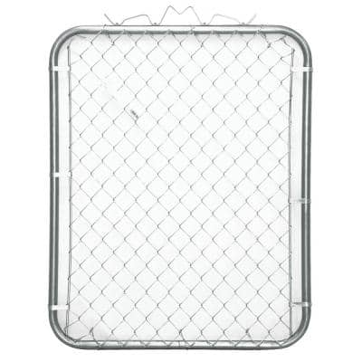 42 in. x 48 in. Galvanized Steel Bent Frame Walk-Through Chain Link Fence Gate