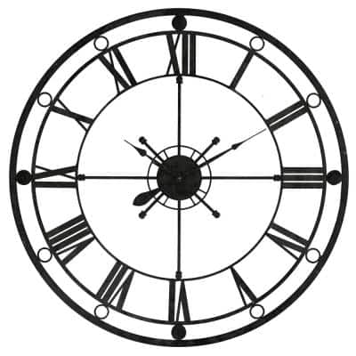 Tower Clock Black Wall Clock