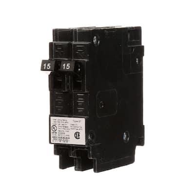 15 Amp Tandem Single Pole Type QT Circuit Breaker