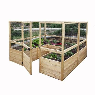 8 ft. x 8 ft. Garden in a Box with Deer Fencing