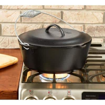 7 Qt. Cast Iron Dutch Oven with Lid and Spiral Bail Handle