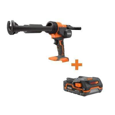 18-Volt Cordless Caulk Gun and Adhesive Gun with 1.5 Ah Lithium-Ion Battery