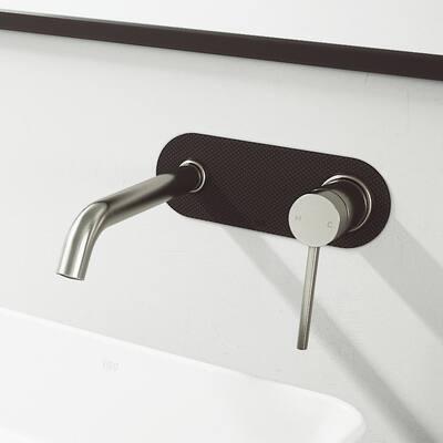 Lenox cFiber Single-Handle Wall Mount Bathroom Faucet in Brushed Nickel