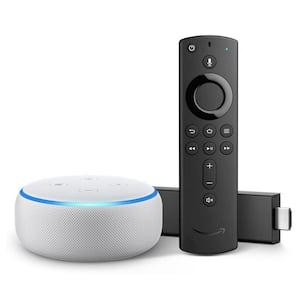 Echo Dot Gen 3 Plus Fire TV Stick 4K in White