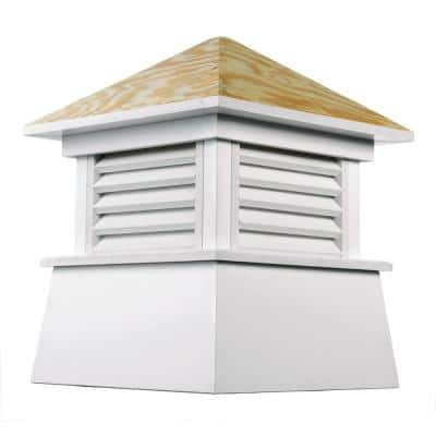 Kent 42 in. x 54 in. Vinyl Cupola with Wood Roof