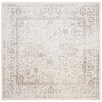 Adirondack Ivory/Silver 7 ft. x 7 ft. Square Area Rug