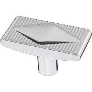 Slatted Diamond 1-5/8 in. (42 mm) Polished Chrome Cabinet Knob