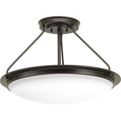 Apogee Collection 45-Watt Architectural Bronze Integrated LED Semi-Flush Mount