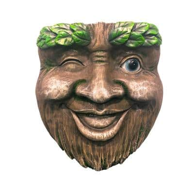 Resin Tree Face Wink Planter