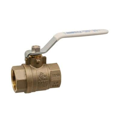 1-1/2 in. Brass Lead-Free Threaded Two-Piece Full Port Ball Valve