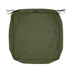 Montlake Water-Resistant 23 in. x 23 in. x 5 in. Patio Seat Cushion Slip Cover, Heather Fern Green