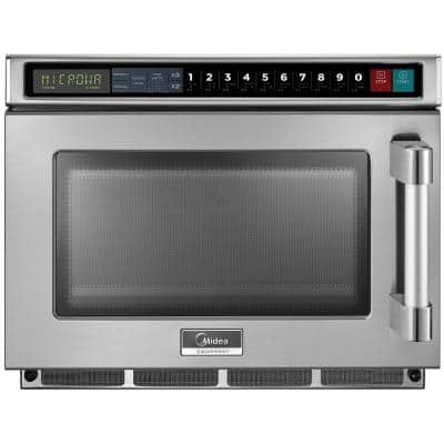 0.6 cu. ft. 1200-Watt Commercial Counter Top Microwave Oven in Stainless Steel Interior and Exterior, Programmable