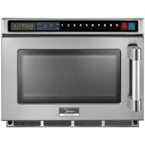 0.6 cu. ft. 2100-Watt Commercial Counter Top Microwave Oven in Stainless Steel Interior and Exterior, Programmable
