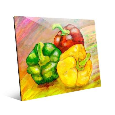 Bell Pepper Trio Unframed Acrylic Wall Art Print 20 in. x 16 in.