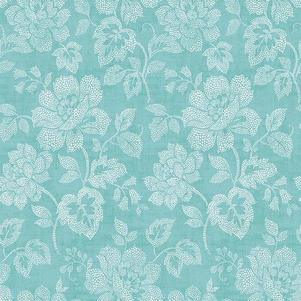 A Street Prints Tivoli Turquoise Floral Paper Strippable Roll Covers 56 4 Sq Ft 2702 22735 The Home Depot