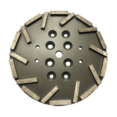 10 in. #40/50 Grit Diamond Grinding Disc Plate for Edco, MK, Husqvarna, and Blastrac Floor Grinders
