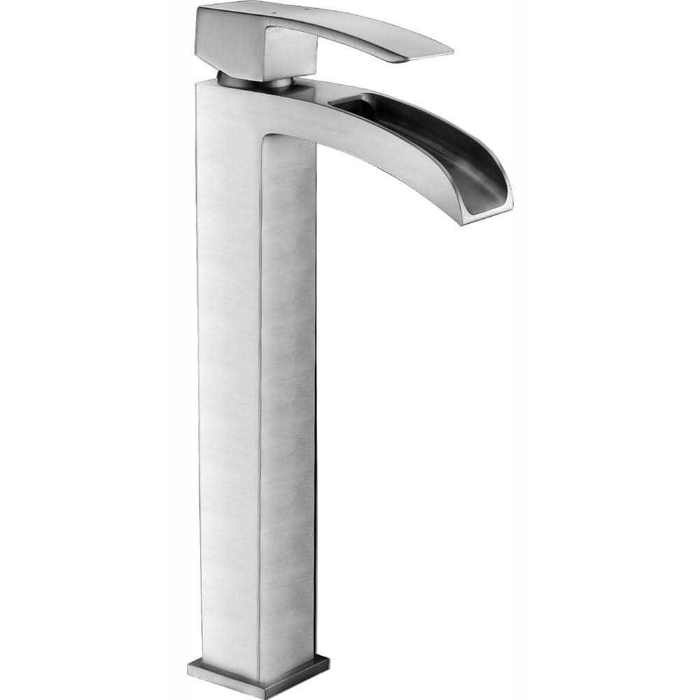 Anzzi Key Series Single Hole Single Handle Vessel Bathroom Faucet In Brushed Nickel L Az097bn The Home Depot