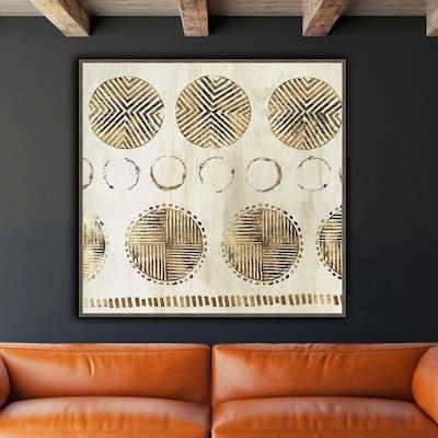 51 in. x 51 in. 'AFRICAN PATTERN' by Eva Watts Framed Canvas Wall Art