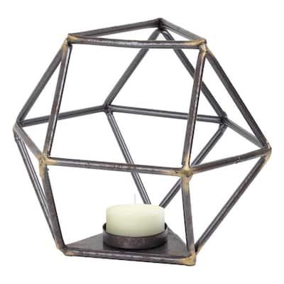 Geometric Metal Candle Holder