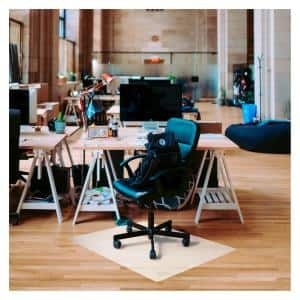 Ecotex® Polypropylene Rectangular Anti-Slip Foldable Chair Mat for Hard Floors - 45'' x 53''
