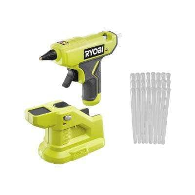 ONE+ 18V Cordless Compact Glue Gun (Tool Only) with 24-Pack 5/16 in. x 6 in. Mini Glue Sticks