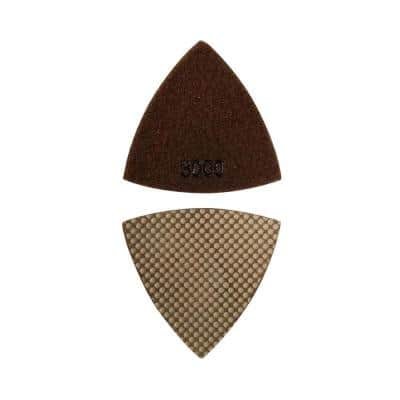 Triangular Diamond Grinding Pad for Oscillating Tools - 3000 Grit Resin-Embedded