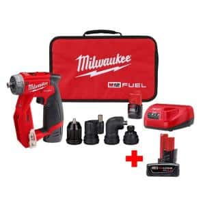M12 FUEL 12-Volt Lithium-Ion Brushless Cordless 4-in-1 Interchangeable 3/8 in. Drill Driver Kit with 6.0 Ah Battery